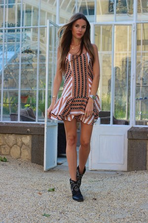 Isabel Marant boots - free people dress