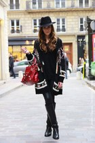 black Isabel Marant cardigan - Chanel boots