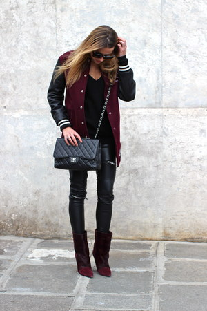 Isabel Marant boots - Chanel bag - Zara pants