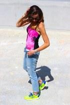 SANDRO jeans - nike sneakers