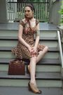 Brown-garage-sale-dress
