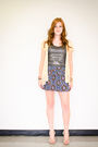 Yellow-charlotte-russe-cardigan-silver-express-shirt-blue-forever-21-skirt-
