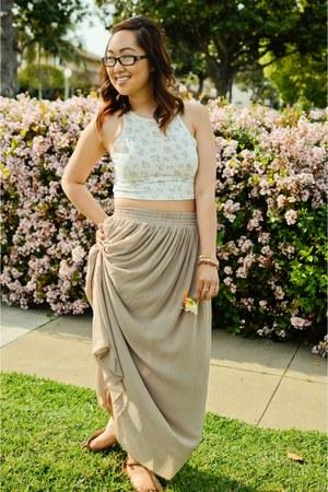 American Apparel skirt - Forever 21 top - Zara sandals