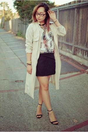jersey Primark shirt - H&M coat - H&M skirt