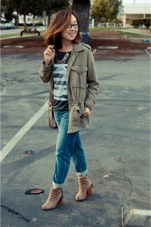 Target jeans - utility jacket Urban Outfitters jacket - Hanhny t-shirt