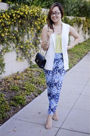 blue Ella Moss pants - Target vest - Forever 21 top