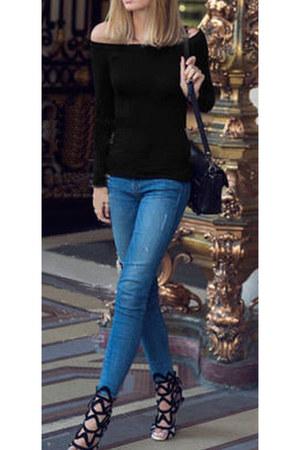 skinny jeans - top
