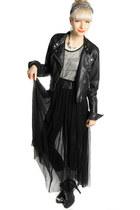 long lace white crow dress - velvet white crow leggings