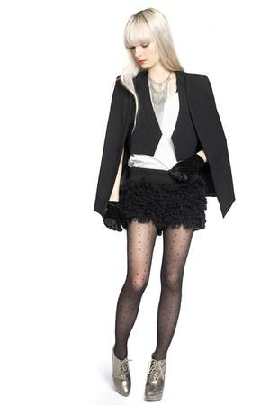 black white crow jacket - black white crow shorts - black white crow gloves