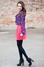Black-dolce-vita-boots-hot-pink-zara-skirt-blue-kisses-f21-blouse