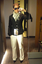 banana republic blazer - scarf - pants - heels