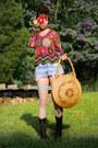 Combat-farylrobin-boots-crochet-vintage-sweater-xxl-straw-vintage-bag-vint