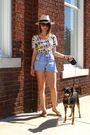 Beige-bdg-top-blue-vintage-shorts-black-vintage-sunglasses-beige-vintage-s