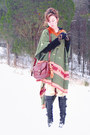 Black-florentini-baker-boots-army-green-poncho-vintage-coat-brown-leather-