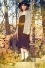 Black-vintage-dress-brown-vintage-belt-dark-gray-uo-bag-black-farylrobin-s