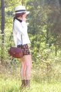 White-vintage-blouse-red-vintage-skirt-brown-vintage-candies-shoes-brown-v