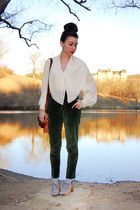 ivory poet billowy vintage blouse - light brown Esska shoes