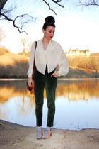 ivory poet billowy vintage blouse - light brown Esska shoes