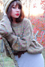 Camel-vintage-sweater-heather-gray-vintage-skirt-brown-vintage-belt-brown-