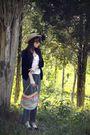 Black-vintage-cardigan-pink-forever-21-top-silver-vintage-pants-blue-vinta
