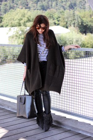 forest green asos cape - black Isabel Marant boots