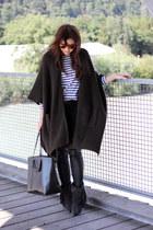 forest green asos cape - black Isabel Marant boots
