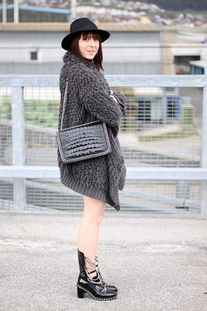 charcoal gray OASAP cardigan