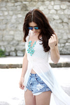 aquamarine Zara heels