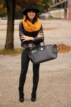 orange ernstings family scarf
