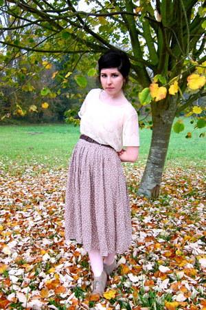 light pink polka dot Cotton  Candy skirt