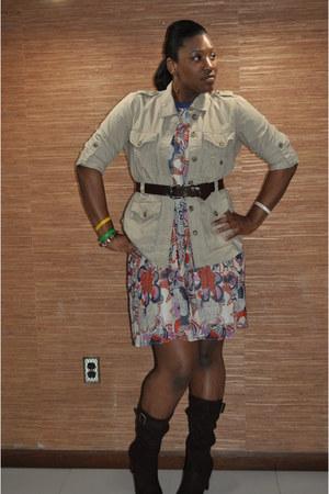 tan Gap jacket - cream Target dress - dark brown payless boots