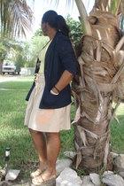chadwicks blazer - Gap skirt - Old Navy shirt - vintage necklace - Claires brace