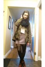 Crimson-aeropostale-boots-olive-green-army-old-navy-coat