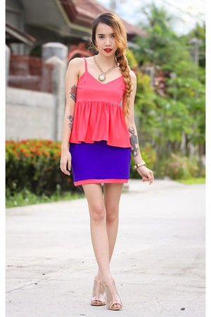 hot pink ootd pilipinas top - gold libebi necklace