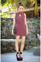 maroon polka dot FEMMEX dress