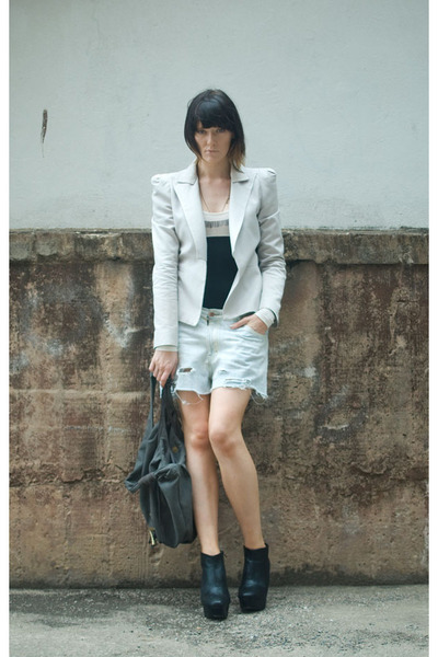 Bianca Spender blazer - vintage denim shorts