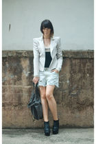 Bianca Spender blazer - vintage denim shorts
