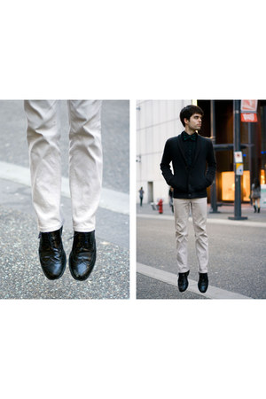 black Mexx shirt - black Aldo Shoes shoes - navy Armani Exchange cardigan