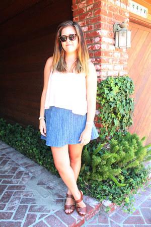 sky blue vintage skirt