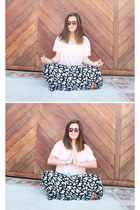 black Forever21 skirt - bubble gum DIY shirt