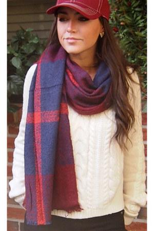Wild Lilies Jewelry scarf - Paige jeans - Athleta sweater