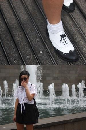 white MinkPink shirt - DIY skirt