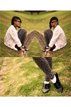 black Dangerfield sunglasses - black I love Billy shoes - gray K Mart leggings -