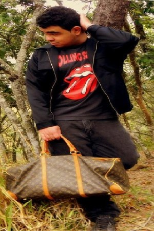 Ricardo Ribeiro jacket - Louis Vuitton bag - no name pants
