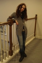 H&M sweater - AG jeans - Moroccan accessories - Moroccan belt - Martino boots