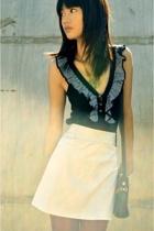 Shona Joy top - VJ skirt - Damselfly necklace - purse - cotton on tights
