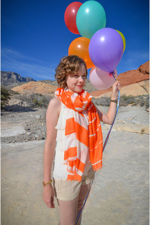 orange scarf Winky Designs accessories