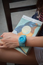 Jelly-turquoise-slap-watch-watch
