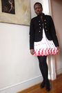 Black-forever-21-blazer-white-thrift-dress-black-joe-sanchez-shoes
