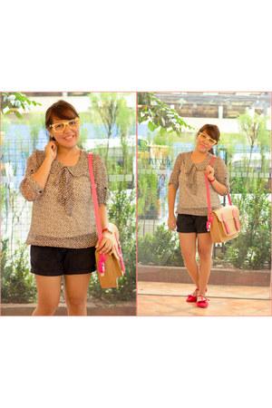 bangkok blouse - red maryjane Solemate flats
